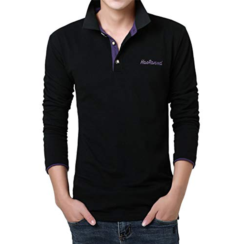 Willow S Fashion Mens Premium Casual Letter Printing Shirt Work Wear Short Sleeve Casual Blouse Tops Polo Shirt
