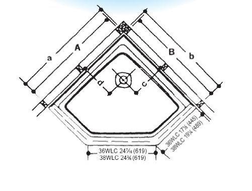 crane plumbing 36wlcbi cascade shower floor neocorner biscuit misc shower bases u0026 pans amazon canada