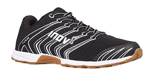 Inov-8 F-Lite 230 - Original Minimalist Cross Training Shoes - All Purpose Athletic Shoe for Gym, Training and Weight Lifting - Black/Gum 7 M UK