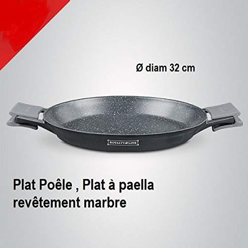 Royalty Line - Plato para sartenes, Plato Paella mármol 32 ...