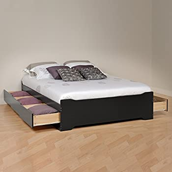 0f272e89969 Prepac BBD-5600-3BV Coal Harbor Mates Full Platform Storage Bed with 6  Drawers