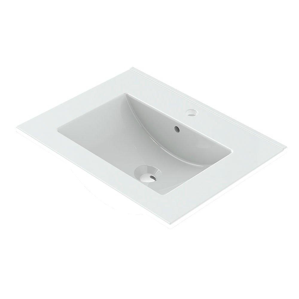 Randalco 24'' Maine Modern Bathroom Vanity Cabinet Set | 24 x 24 x 18 Inch Vanity Cabinet + Ceramic Top + Mirror | Cognac Wood Looking Finish by Randalco (Image #6)