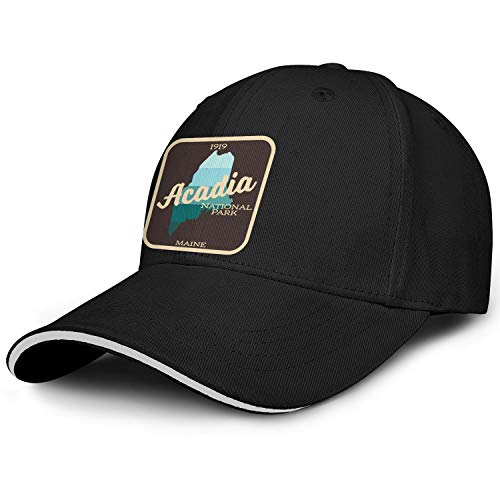Acadia National Park Baseball Hats Fashion Cotton Adjustable Outdoor Cap ()