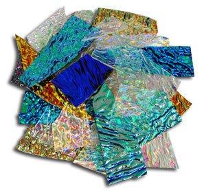 1 Lb Cbs Dichroic Texture Scrap - 96 Coe by Delphi Glass