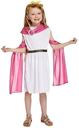 Greek Outfits For Boys (Fancy Me Girls /Pink Greek Goddess Princess Toga Fancy Dress Costume Outfit 4-12 Years)