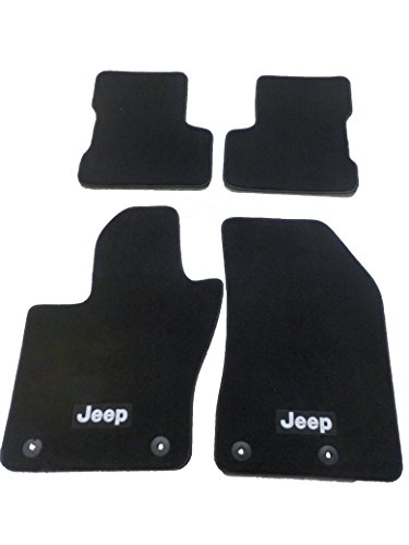 Jeep Renegade Premium Slate Gray Front and Rear Carpet Floor Mats NEW OEM MOPAR