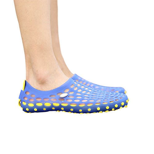 Men Board Sandals Beach Hollow Meijunter Shoes Slippers w Yellow Blue Cool Breathable Out Holes Shoes 4TdYn0