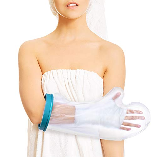 Arm Cast Cover for Shower, Adult Waterproof Cast Protector and Shower Bandage for Broken Surgery Arm, Wound and Burns to Keep The Hand Wrist Fingers Arm Dry -Half Arm Size (20'')