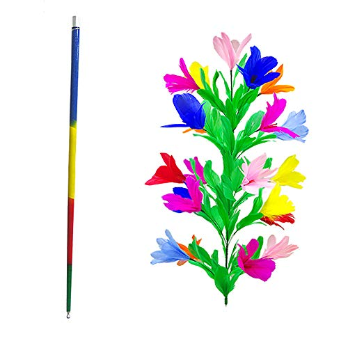 Flower Magic Trick - Enjoyer Appearing Cane Vanishing Cane to Flower Magic Tricks for Magicians Close Up Stage Magic Props Classic Magic Wand Toys