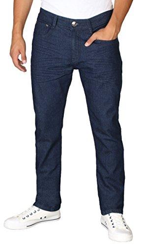 9 Crowns RD Men's Light Distressed Slim Fit Denim Jeans-38 X 32