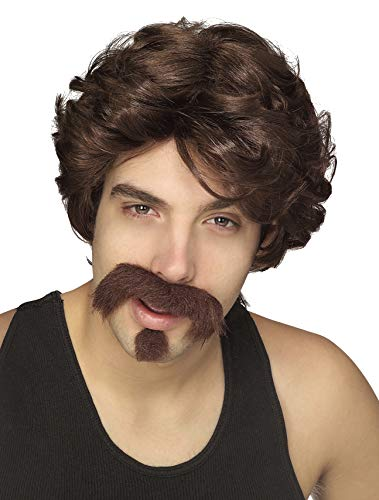 Dodgeball Movie Costumes (Rubie's Men's Big John Wig, Moustache, and Goatee, Multicolor, One)