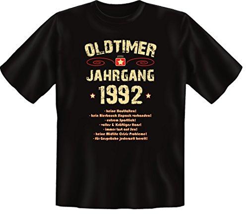 Zum 24 Geburtstag, Oldtimer / Jahrgang 1992, Humorvolles Herren Fun-t-shirts Geschenk zum Geburtstag mit Sprüche-Motiv:, ,