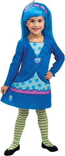 Rubies Strawberry Shortcake and Friends Blueberry Muffin Costume, Toddler (Girls Blueberry Muffin Wig)