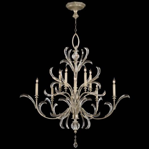 Fine Art Lamps 701340, Beveled Arcs Crystal 2 Tier Chandelier Lighting, 10 Light, 600 Watts, (Beveled Arcs)