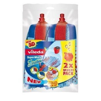 2 X Vileda Supermocio 3 Action Refill Twin Pack by Vileda