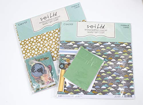 (Card Making Kit Pack - Two Kits with Complete Instructions to Make 16 Hand Made All Occasion Greeting Cards Perfect for Men or Guys )