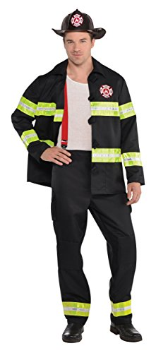Rescue Me Costume (Costumes USA Firefighter Adult Costume - Medium)