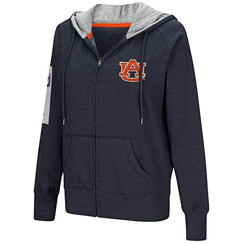 Colosseum Womens Auburn Tigers Full-Zip Hoodie - -