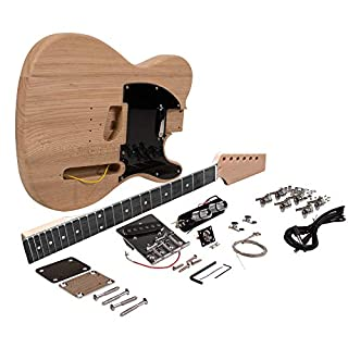 Seismic Audio - SADIYG-05 - Premium DIY Traditional Classic Style Electric Guitar Kit - Unfinished Luthier Project Guitar Kit