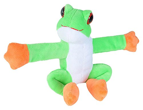 Wild Republic Huggers Plush Toy, Slap Bracelet, Stuffed Animal, Kids Toys, (Rainforest Frogs Tree)