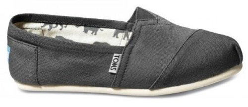 TOMS Women's, Alpargata Slip On Shoes Gray 5.5 M