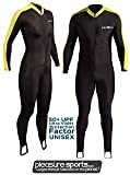 NeoSport by Henderson Skin Suit Sport Skin Black and Yellow 50+ UV Protection - XS