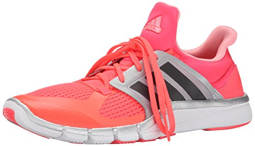 adidas Performance Women's Adipure 360.3 W Training Shoe, Flash Red/Dark Solid Grey/Silver, 9 M US