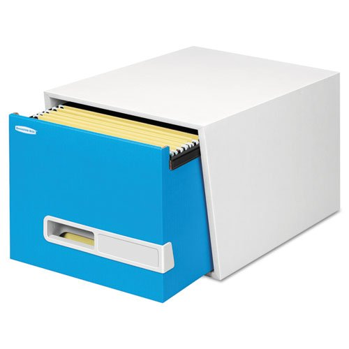 Bankers Box STOR/DRAWER Premier Extra Space Savings Storage Drawers, Letter, Blue, 5/Carton by Bankers Box