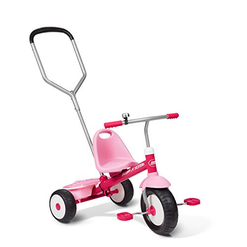 Radio Flyer Deluxe Steer & Stroll Trike, Pink (Best Trike For 2 Year Old)
