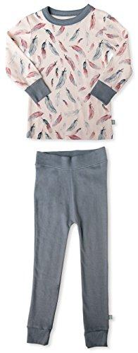 Finn + Emma Organic Cotton Pajama Sleep Set for Toddler Boy or Girl – Feather, 2T by Finn + Emma