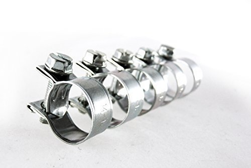 Mini Schlauchschelle fü r Kraftstoffleitung verzinkt 14-16mm (5 Stü ck) Hebei MY LTD