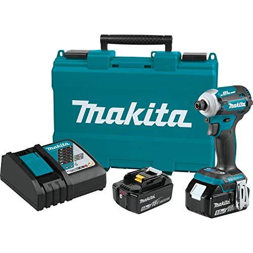 Makita XDT16T 18V LXT Lithium-Ion Brushless Cordless Quick-Shift Mode 4-Speed Impact Driver Kit (5.0Ah)