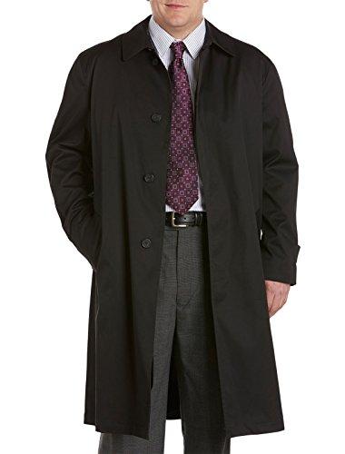 Jean Paul Germain Big & Tall Buster Three-Season Overcoat (58 Long, Black)