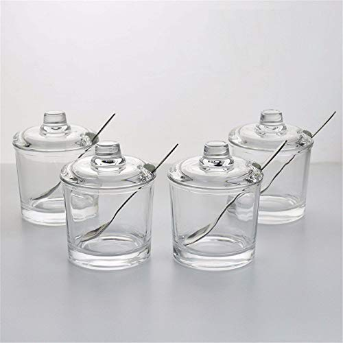 726b14ef0f17 Premium Seasoning Box Kitchen Glass Jar Moisture-Proof Home Multi-Purpose  Jam Bottle Cruet Set Di Vasi Per Condimento Per Ampolle In Vetro (Color : 4)