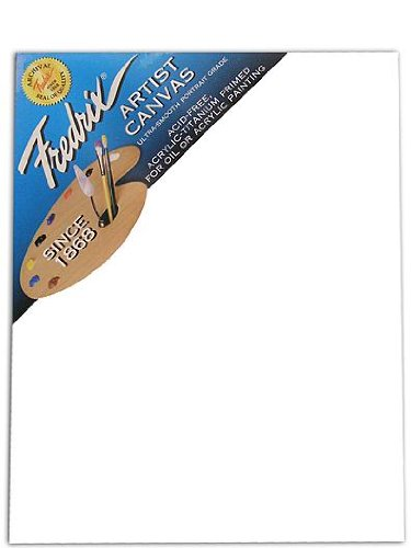 Fredrix Blue Label Ultra-Smooth Portrait Grade Pre-Stretched Artist Canvas 11 in. x 14 in. each [PACK OF 2 ]