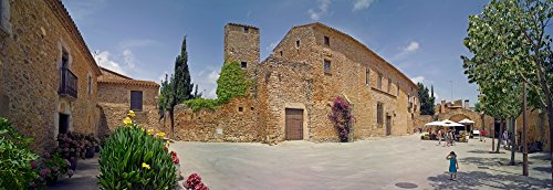 Posterazzi Poster Print Collection Medieval Town of Peratallada Costa Brava Girona Province Catalonia Spain Panoramic Images, (18 x 7), Multicolored ()