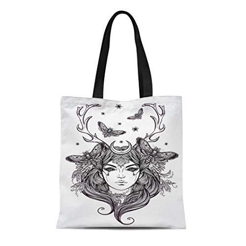 Semtomn Cotton Canvas Tote Bag Beautiful of Banshee