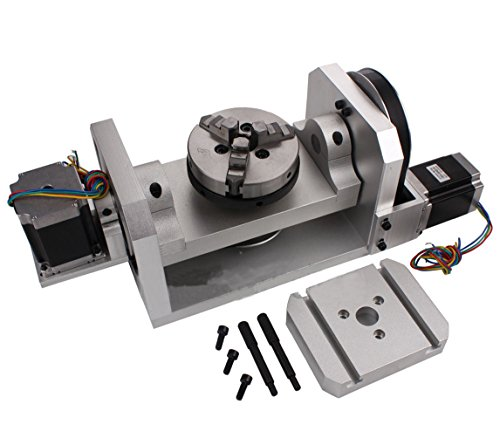 SUNWIN CNC Router Rotary Table Rotational Axis A B 4th 5th Self-Centering 100MM Chuck