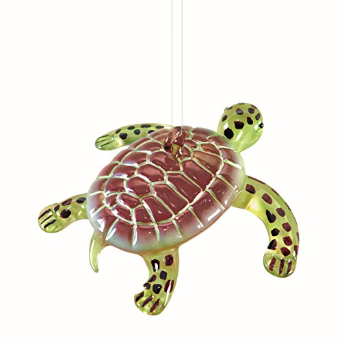 Blown Glass Sea Turtle Hanging Ornament 67473 3.5 inches