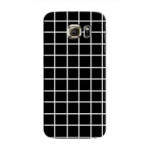 Cover It Up - Black Grid Galaxy S6Hard Case