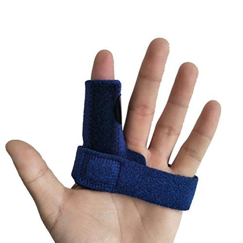 ROSENICE Finger Support Brace Splint Adjustable Protector for Finger Pain Relief (Blue)