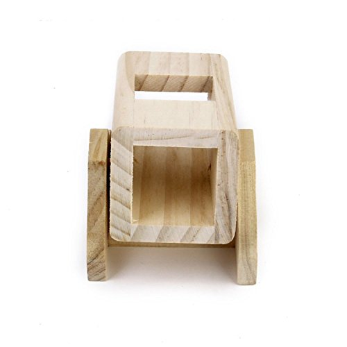 Cocainat 1pcs Wooden Pet Hamster Seesaw Cask Teeter Totter Toy for Hamsters Play House Products Silver M Teeter Totter Dog