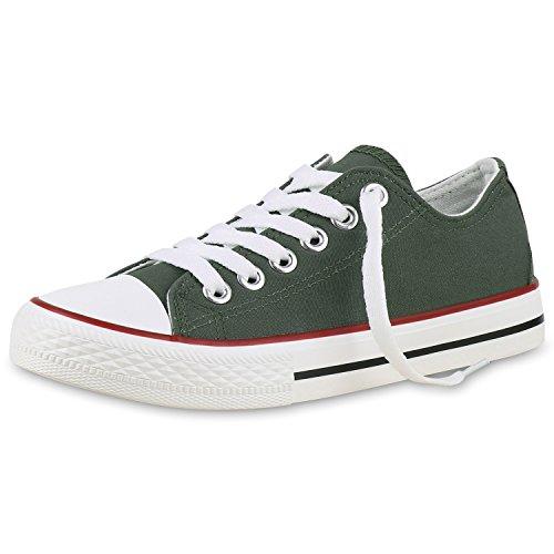 Best-botas para mujer zapatilla zapatillas zapatos de cordones estilo deportivo Dunkelgrün Verde Nuovo