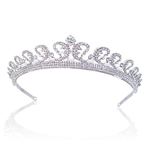 EVER FAITH Princess Inspired Royal Wedding Hair Crown Tiara Clear Austrian Crystal