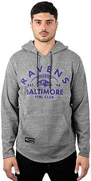 Ultra Game NFL Baltimore Ravens Mens Fleece Hoodie Pullover Sweatshirt Vintage Logo, Gray Snow, X-Large