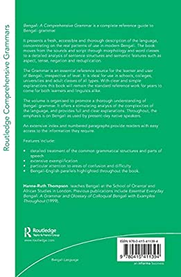 Bengali: A Comprehensive Grammar (Routledge Comprehensive Grammars