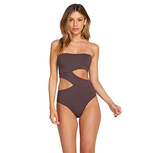 Volcom Women's Simply Seamless One Piece Swimsuit Dark Chocolate