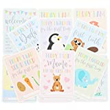 Juvale 36-Count Baby Milestone Cards in Keepsake Gift Box - Photo Props for Newborn's First Year in Weeks, Months, Moments and Holidays, Baby Photo Cards