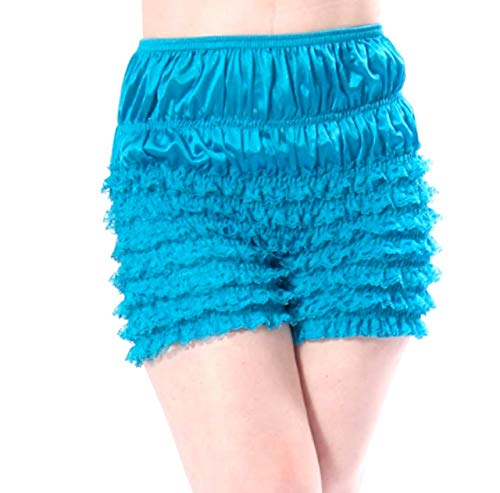 Malco Modes Womens Sexy Ruffle Panties Tanga Dance Bloomers Sissy Booty Shorts (X-Large, Turquoise)