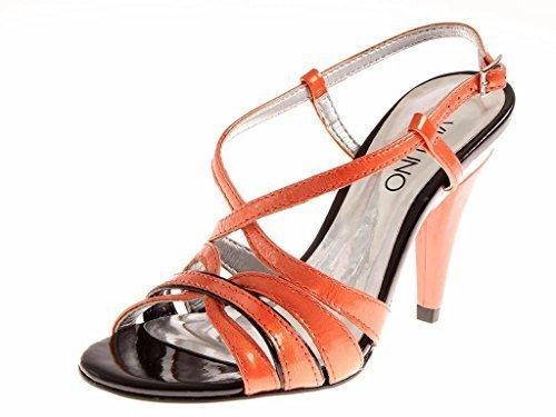 Via Uno High-heel-sandalette Sandalette Cuir Verni Chaussures Femme Saumon